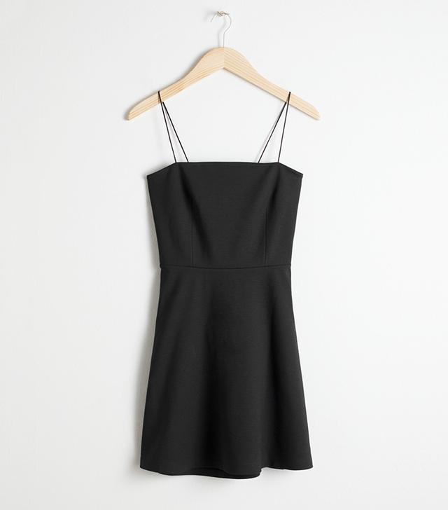 & Other Stories Tie-Back Mini Dress