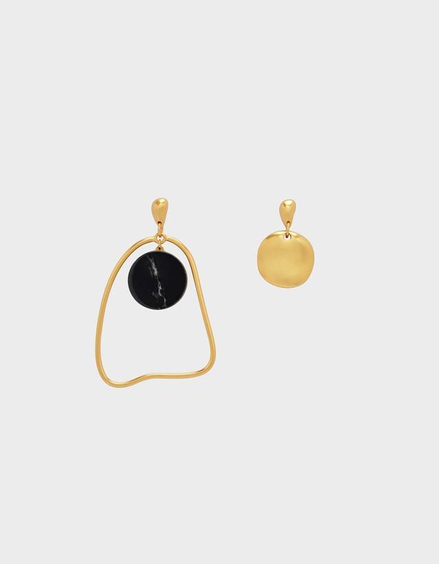 Charles & Keith Semi-Precious Stone Mismatch Earrings