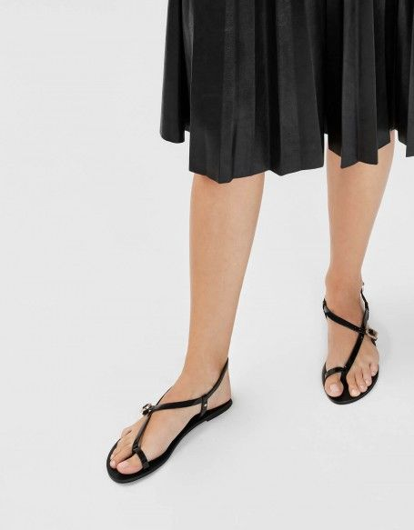 Charles & Keith Asymmetrical Strap Thong Sandals