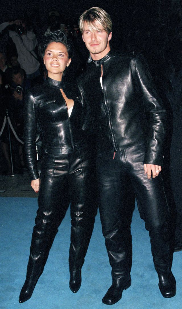 Victoria Beckham Leather '90s Outfit