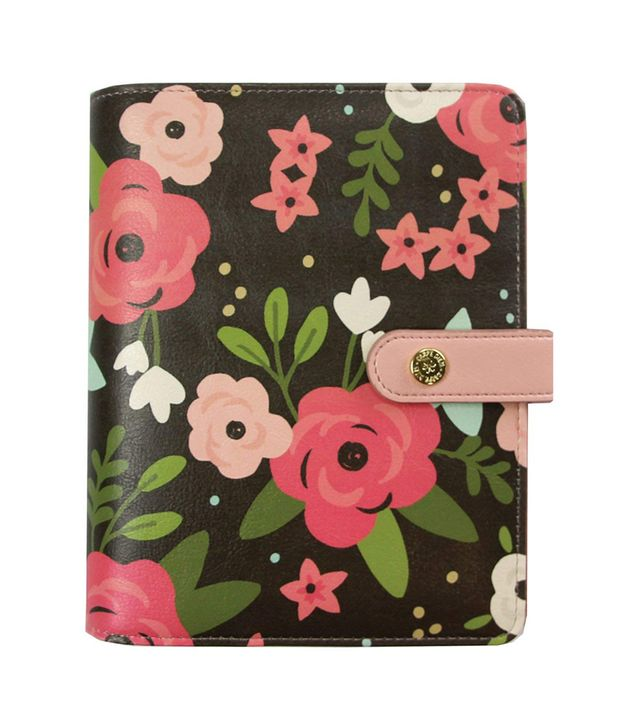 Carpe Diem Black Blossom Personal Planner