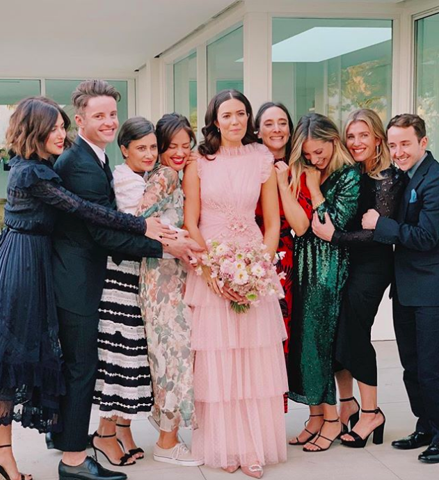 Mandy Moore Wedding.Mandy Moore Just Got Married In A Pink Wedding Dress Who