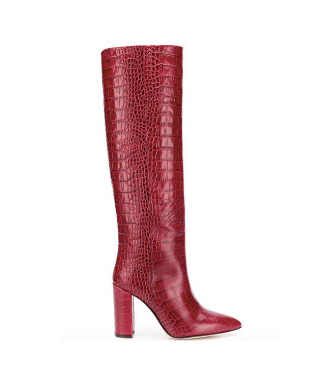 Paris Texas Snakeskin Effect Knee Boots