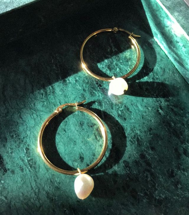 ANK Studios Amori Pearl Hoop Earrings