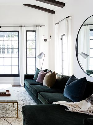 Visual Proof That You Need a Green Velvet Sofa in Your Life
