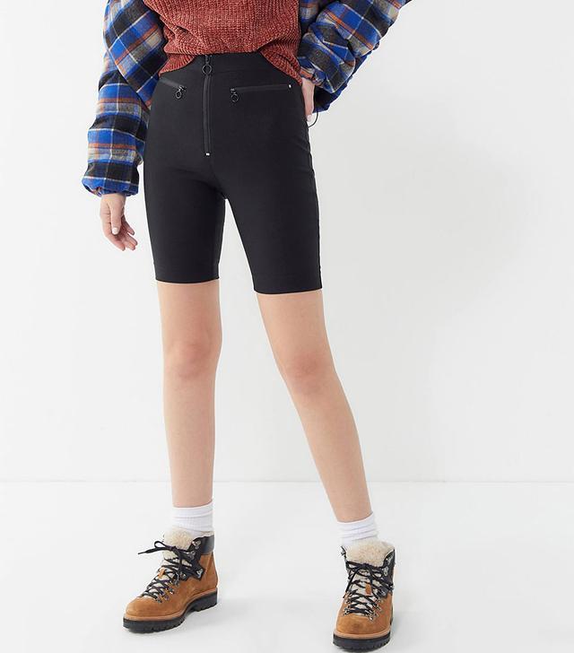Urban Outfitters Sabine Zip-Front Biker Shorts