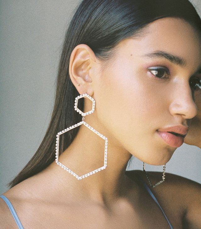 Urban Outfitters Selena Statement Hex Drop Earrings
