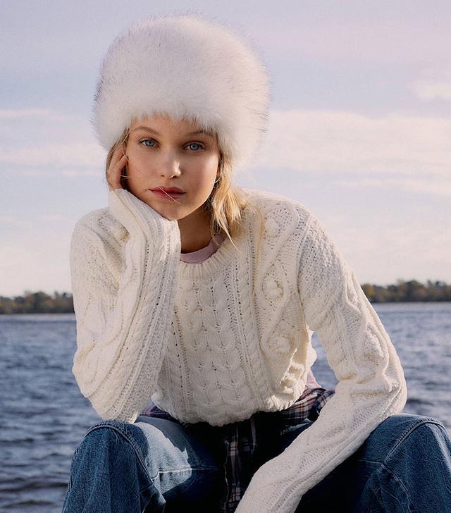 Urban Outfitters Faux Fur Cap