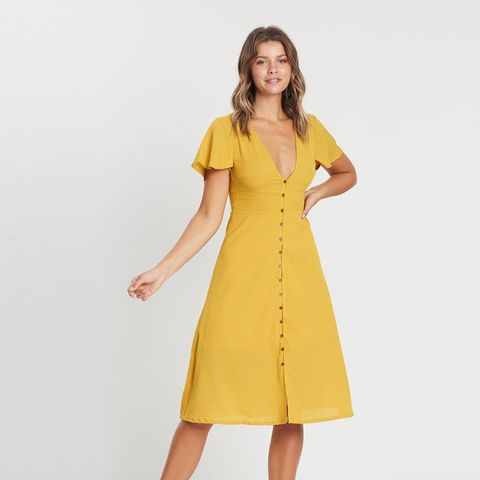 Melody Button Through Midi Dress