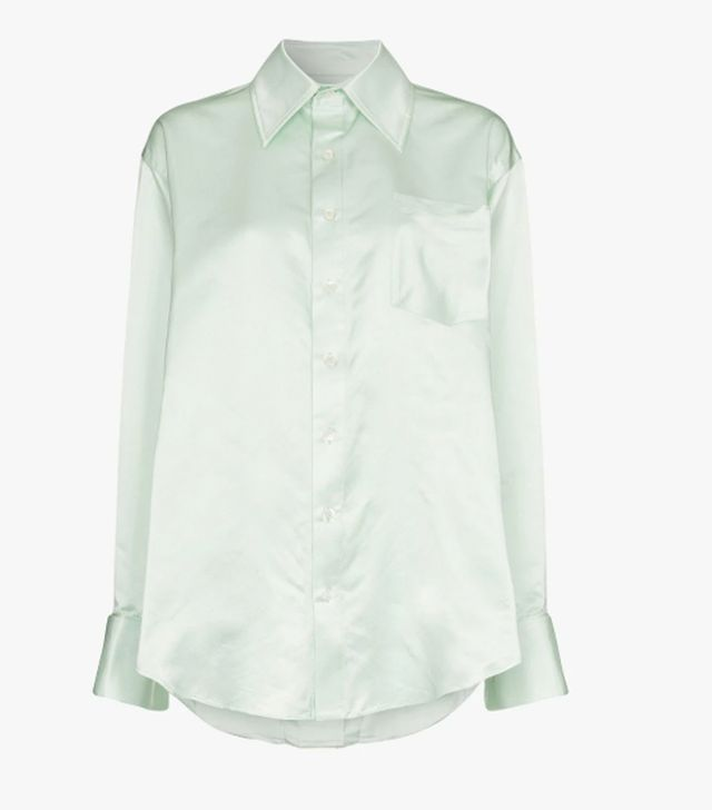 Oversized Silk-charmeuse Shirt