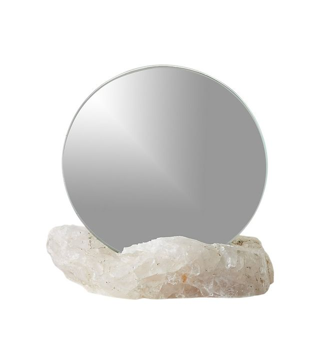 CB2 Rose Quartz Mirror