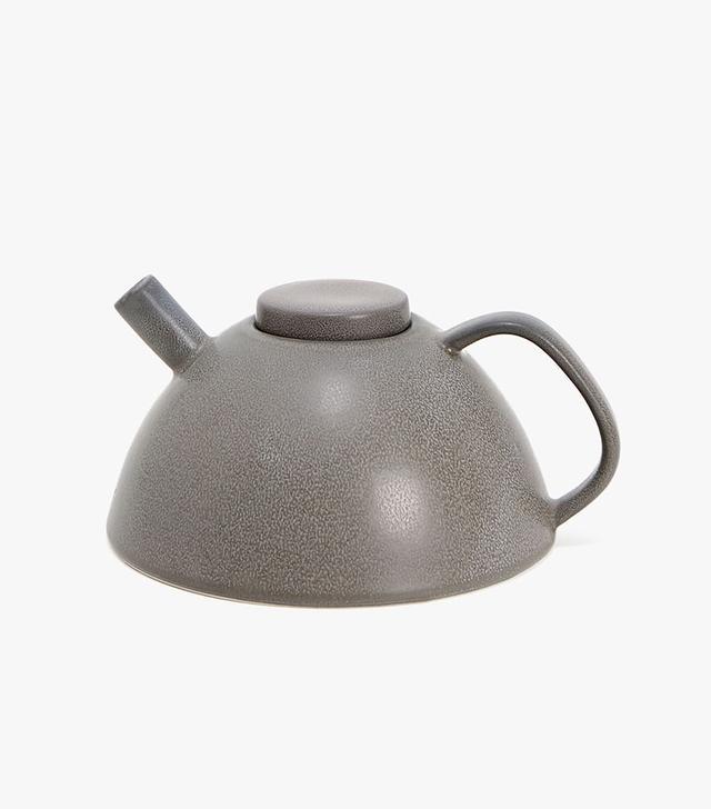 Zara Home Anthracite Stoneware Teapot