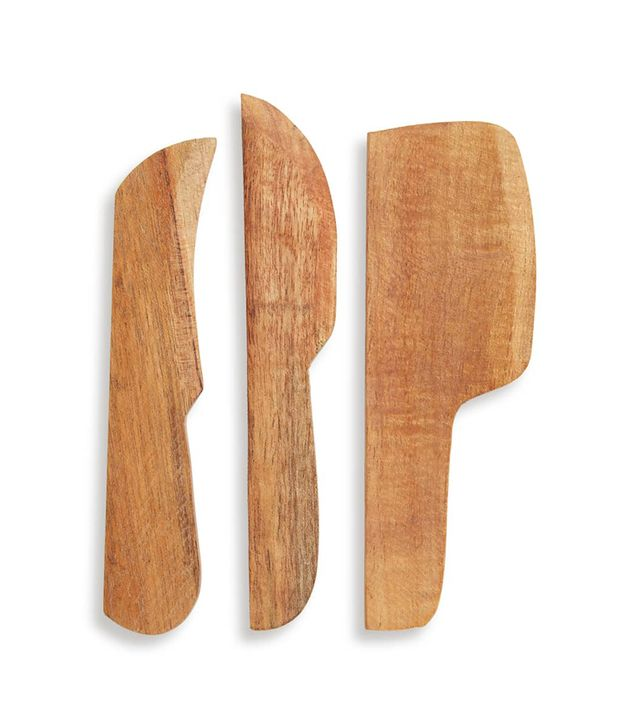 Treasure & Bond Set Of 3 Wooden Cheese Spreaders
