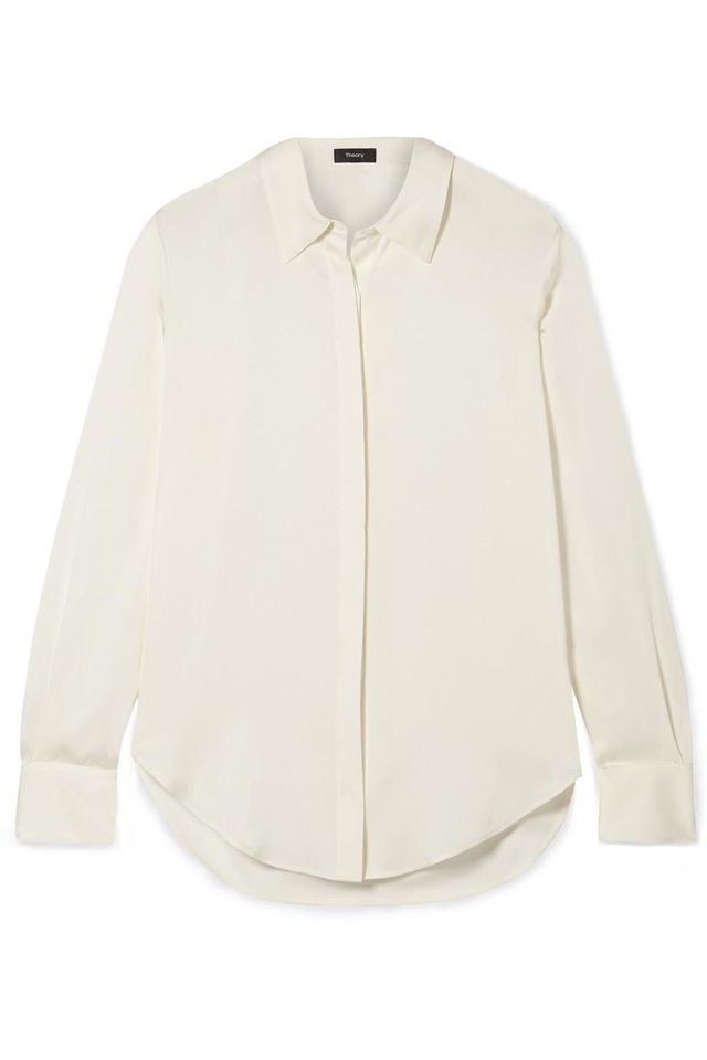 Theory Sunaya Stretch-silk Shirt