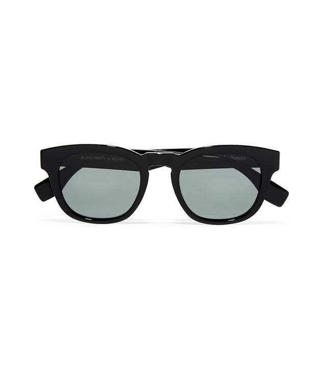 Le Specs Block Party Square-Frame Acetate Sunglasses