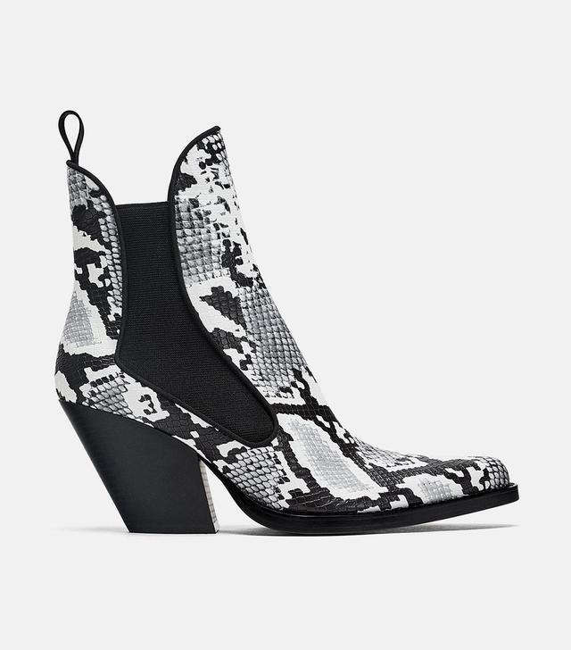 Zara Cowboy Ankle Boots
