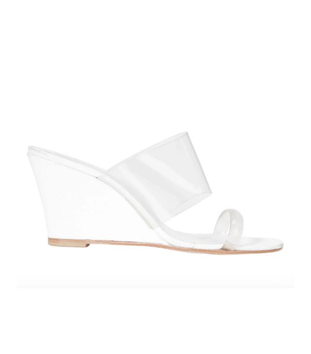 Maryam Nassir Zadeh Olympia Translucent Wedge Sandals White