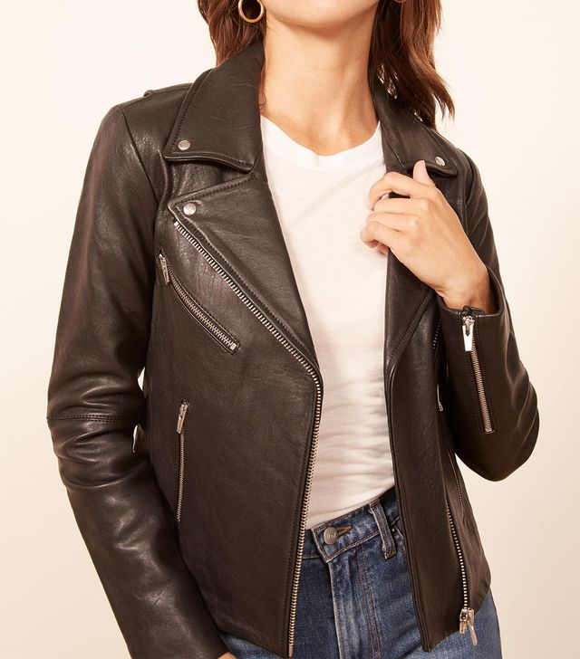Reforrmation Veda Bad Leather Jacket