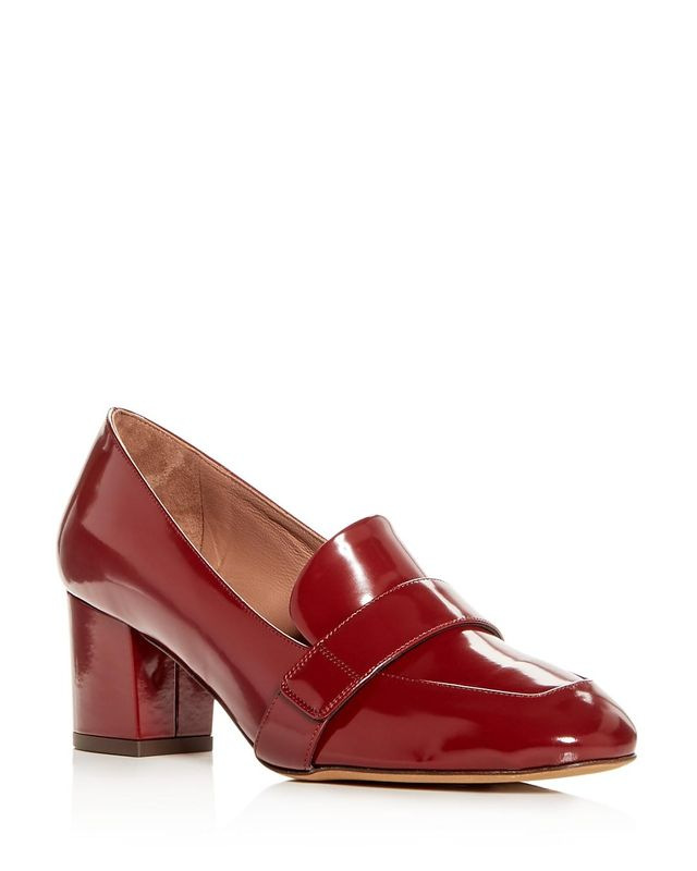 Tabitha Simmons Mika Leather Block-Heel Loafers