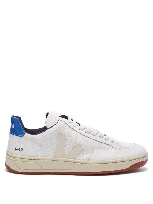 Veja V 12 Low-Top Leather and Mesh Trainers