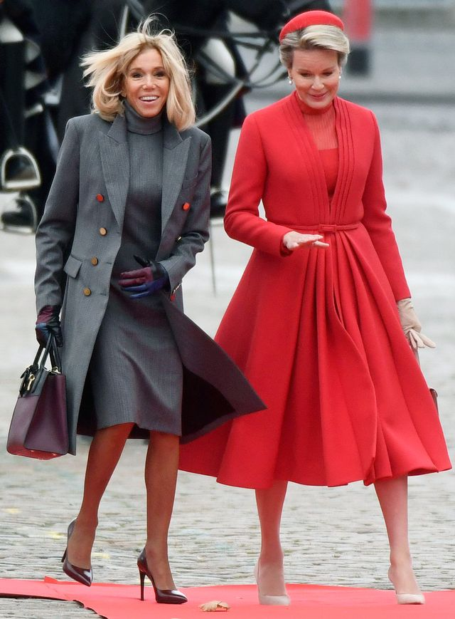 Brigitte Macron Belgium Outfits