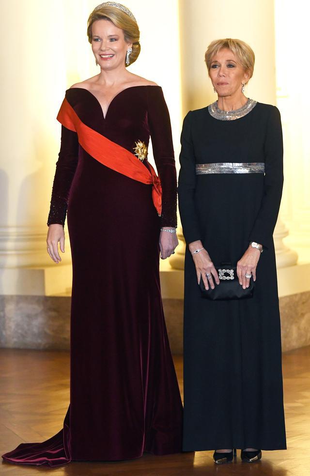 Brigitte Macron and Queen Mathilde of Belgium