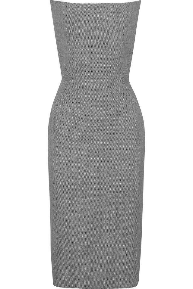 Gareth Pugh Strapless Wool-Jacquard Dress