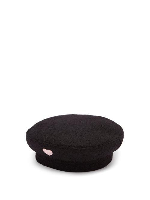 Federica Moretti Basquet Heart Appliqué Wool Cap