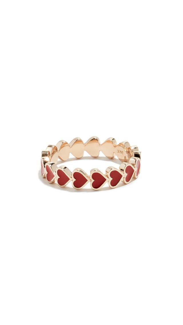 Alison Lou 14k Heart Stack Ring