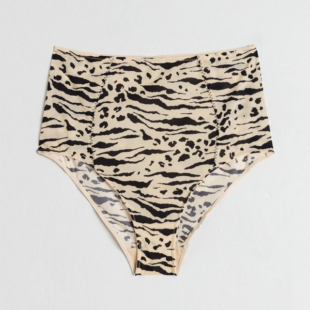 & Other Stories Animal Print High Waisted Briefs