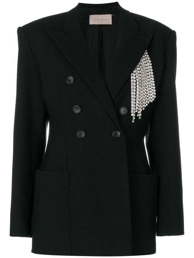 Christopher Kane Crystal Tailored Jacket