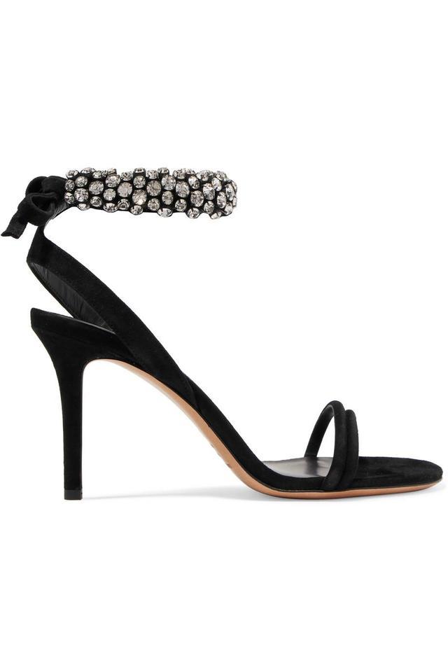 Isabel Marant Alrin Crystal-embellished Suede Sandals