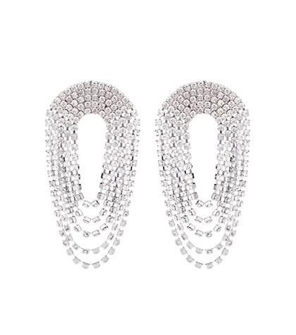 Alessandra Rich Crystal drop earrings
