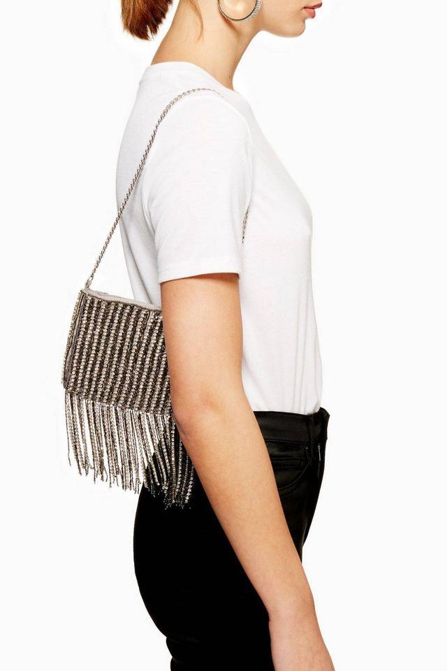 Topshop Talia Diamante Shoulder Bag