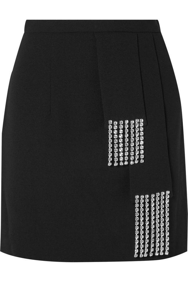 Christopher Kane Crystal-embellished Crepe Mini Skirt