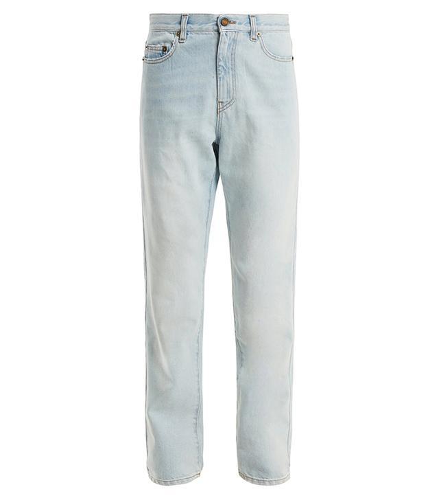 Saint Laurent  Low-Slung Tapered-Leg Jeans