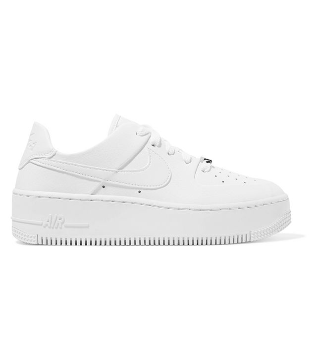 Nike  Air Force 1 Sage Textured-Leather Sneaker
