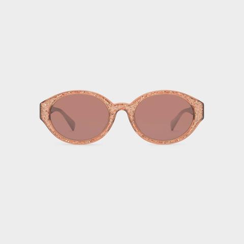 Pink Acetate Oval Sunglasses