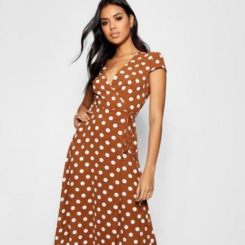 Boutique Polka Dot Wrap Dress