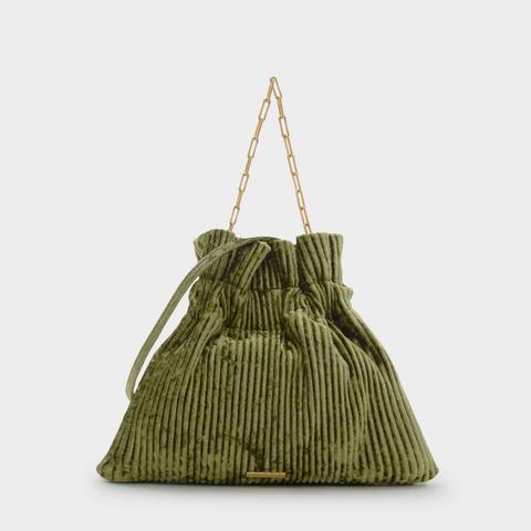 Ribbed Detail Drawstring Bag