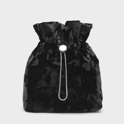 Textured Drawstring Bag