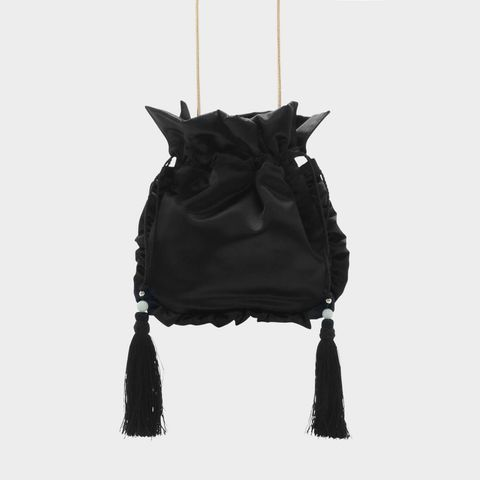 Tassel Detail Drawstring Bag