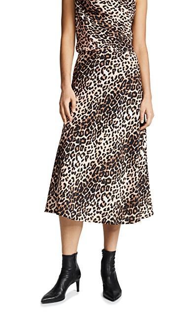 Valencia and Vine Leopard Skirt