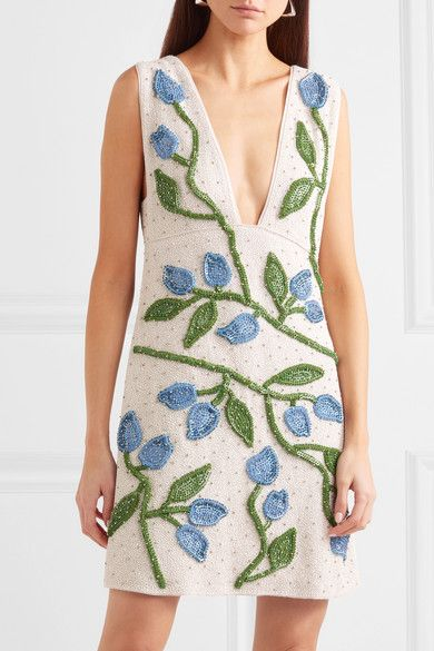 Ganni Orsay Embellished Dress