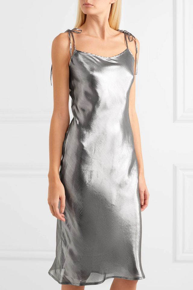 Georgia Alice Hils Metallic Slip Dress