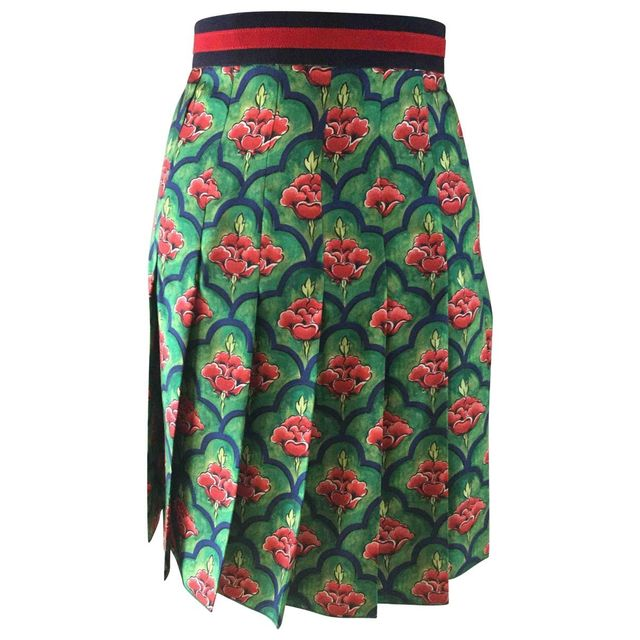 Gucci Silk Mid-Length Skirt