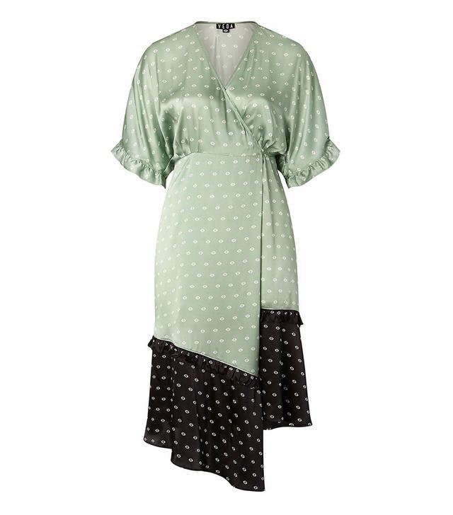 Nicolette Mason x Veda Tuscan Print Silk Dress