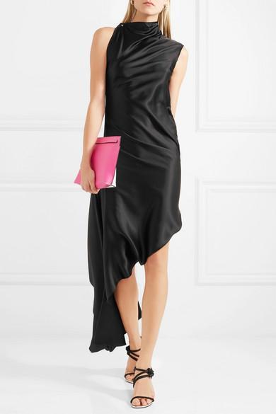 Marques'Almeida Asymmetric Silk-satin Dress
