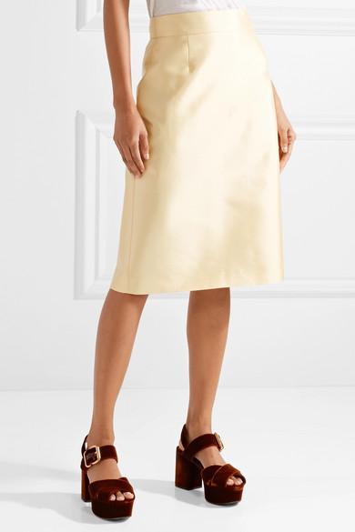 Prada Wool and Silk-Blend Midi Skirt