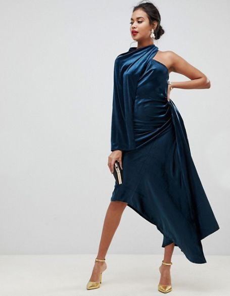 ASOS Edition Asymmetric Drape Dress